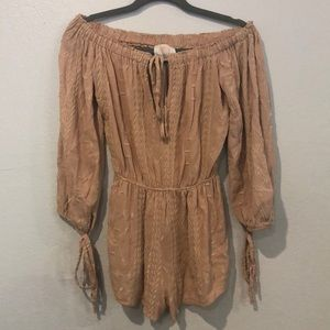 Coveted clothing off the shoulder romper
